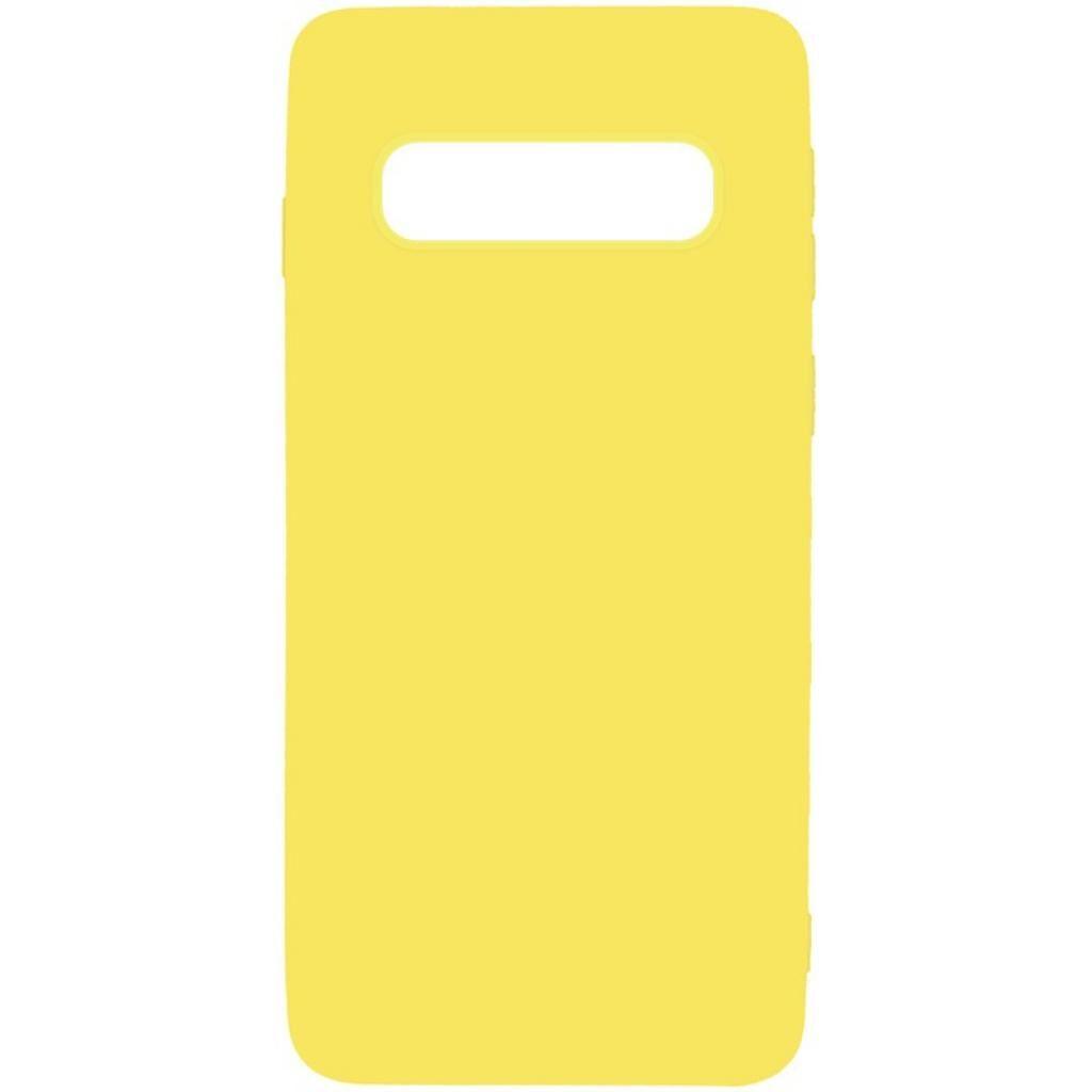 Чехол для моб. телефона TOTO 1mm Matt TPU Case Samsung Galaxy S10+ Yellow (F_93864)