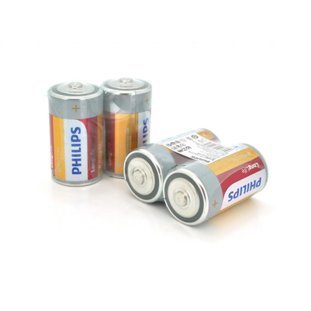 Батарейка Philips D Super Heavy Duty R20, 2pcs in shrink (R20LFT/93)