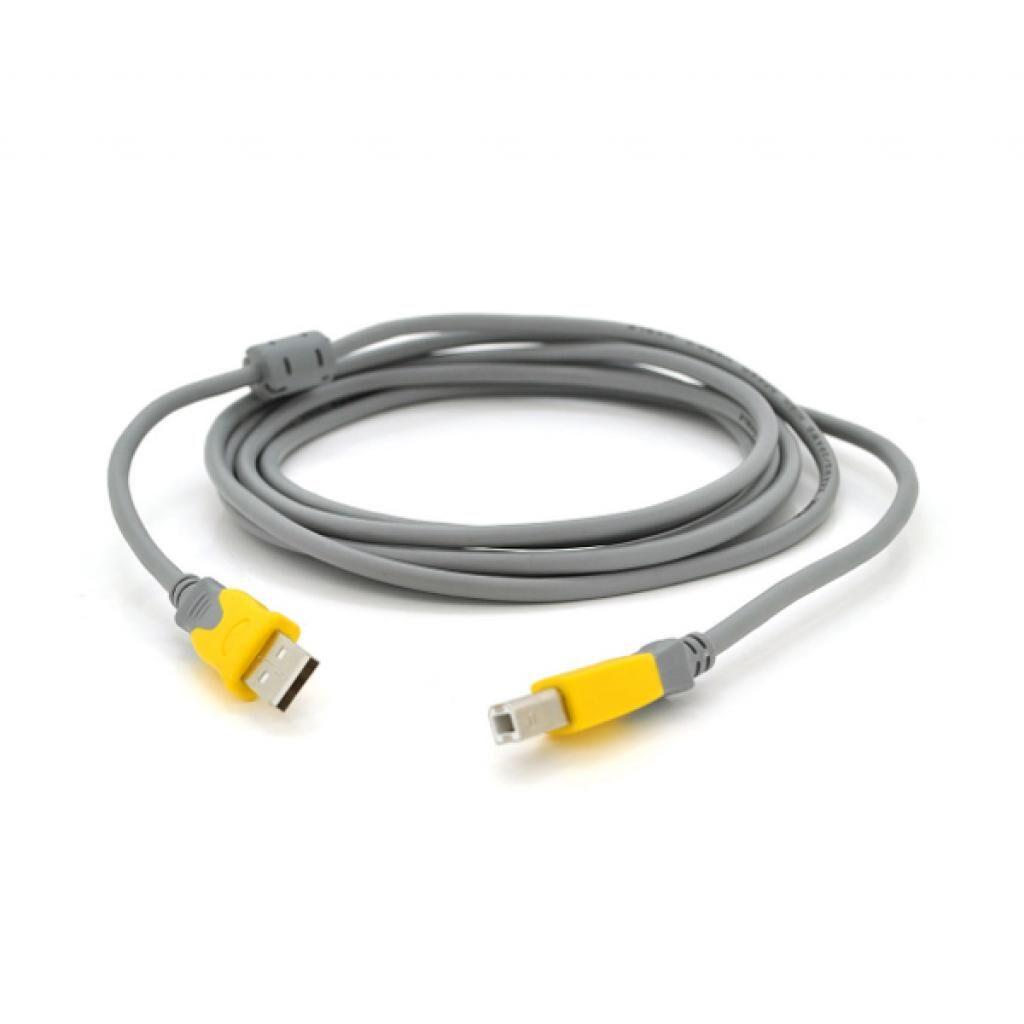 Кабель для принтера USB 2.0 AM/BM 5.0m Merlion (YT-AM/BM-5.0GY)