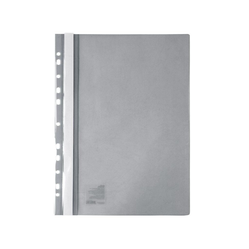 Папка-скоросшиватель Axent А4 с перфорацией 120/150 мкм Серая (1318-12-A)