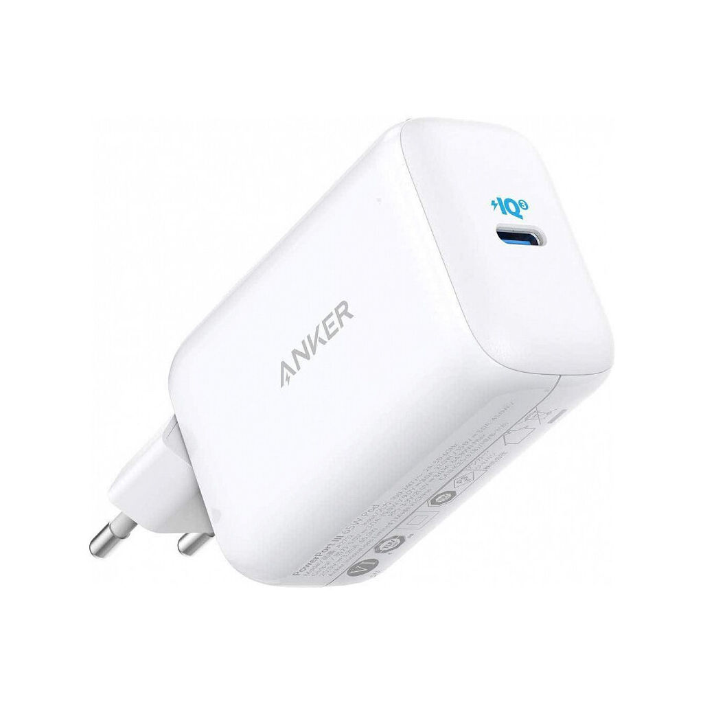 Зарядное устройство Anker PowerPort III 65W Pod PPS+GaN (White) (A2712H21)