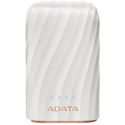 Батарея универсальная ADATA P1050C White (10050mAh, out 2*5V*2,4A max, cable USB-C) (AP10050C-USBC-CWH)