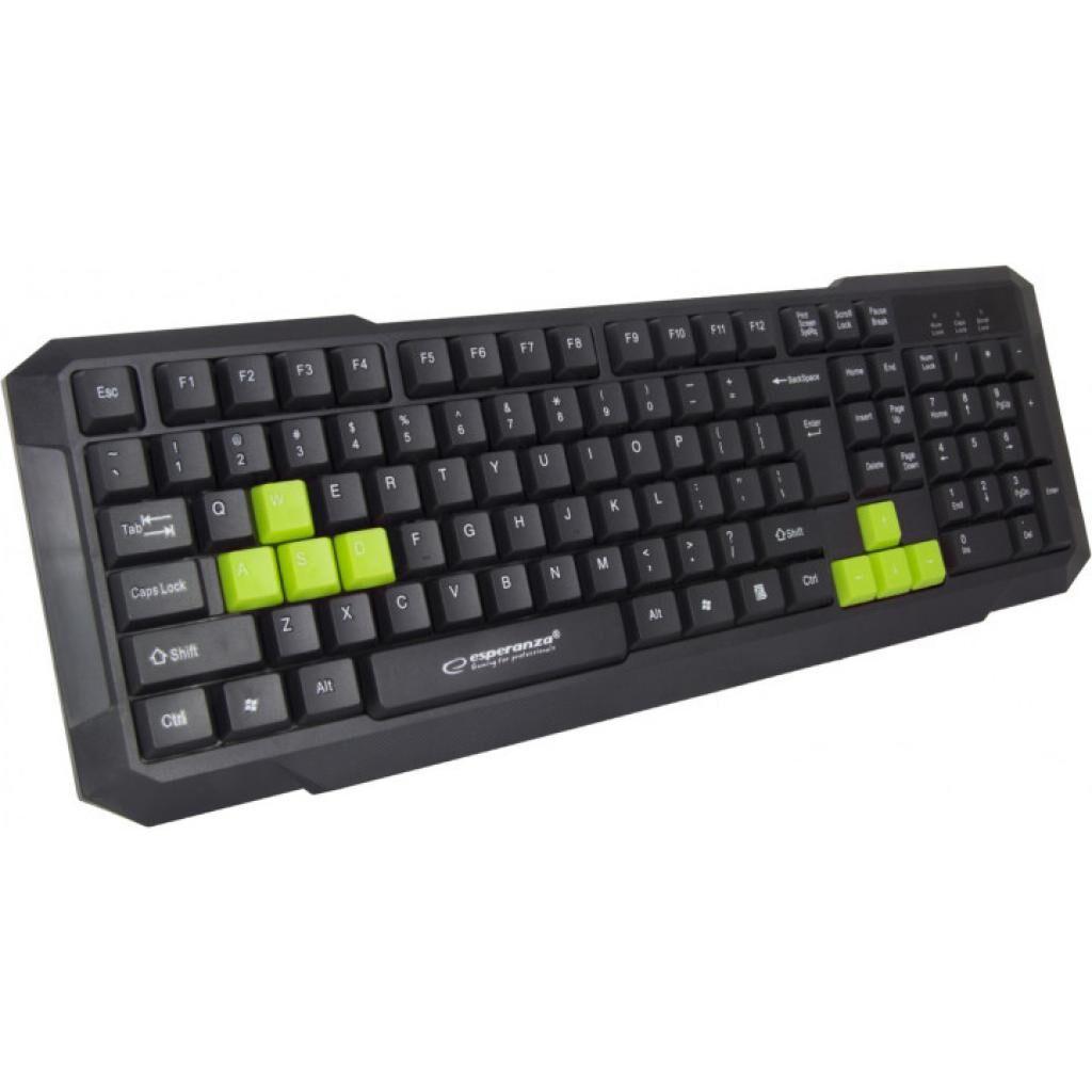 Клавиатура Esperanza EGK102 Green USB (EGK102GUA)