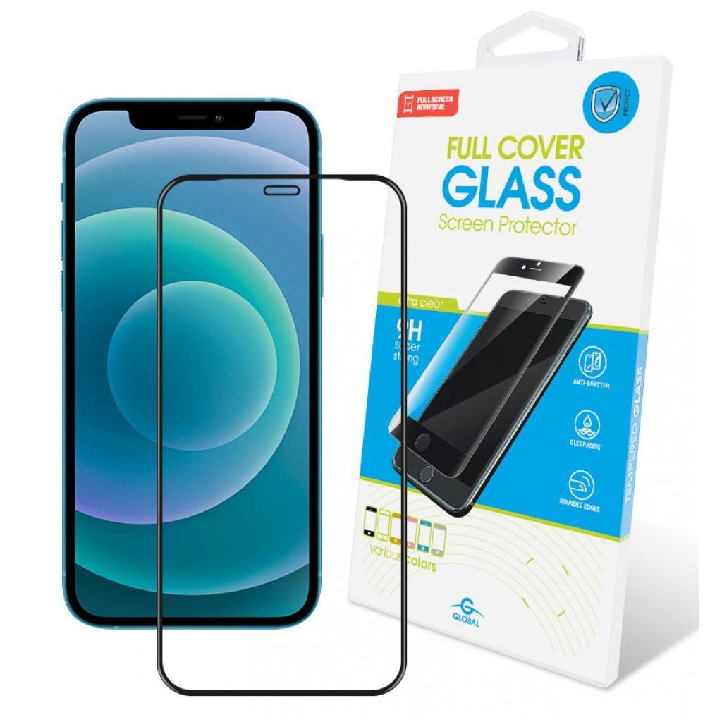 Стекло защитное GLOBAL Full Glue Apple Iphone 12 (black) (1283126506369)