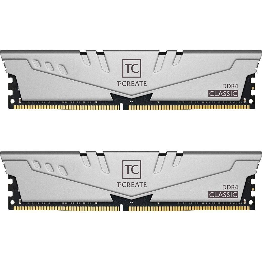 Модуль памяти для компьютера DDR4 16GB (2x8GB) 3200 MHz T-Create Classic 10L Gray Team (TTCCD416G3200HC22DC01)