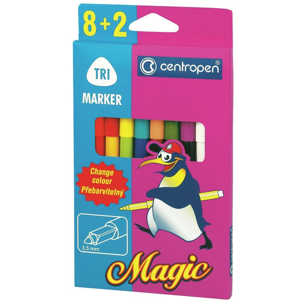Фломастеры Centropen 2549 Magic, 10шт (8 colors+ 2 erasers) (2549/10)