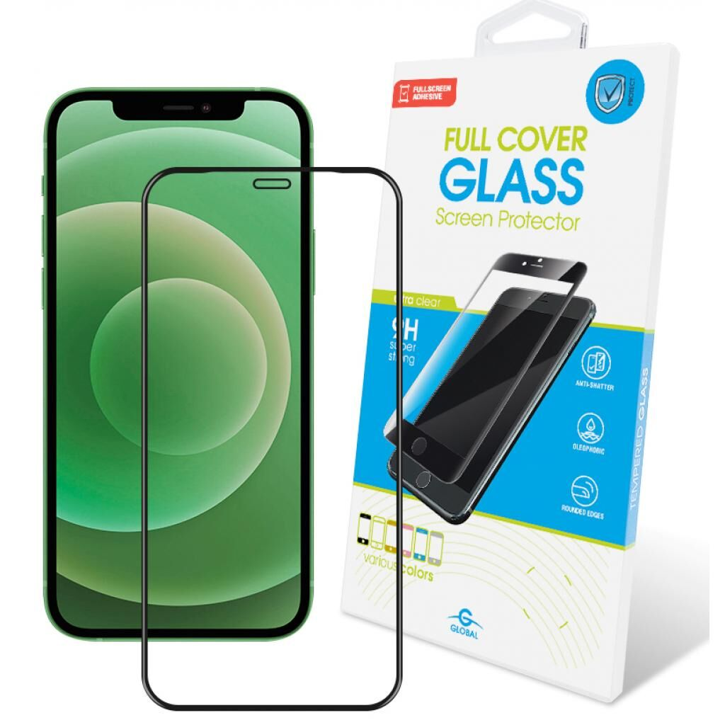 Стекло защитное GLOBAL Full Glue Apple Iphone 12 mini (black) (1283126506376)