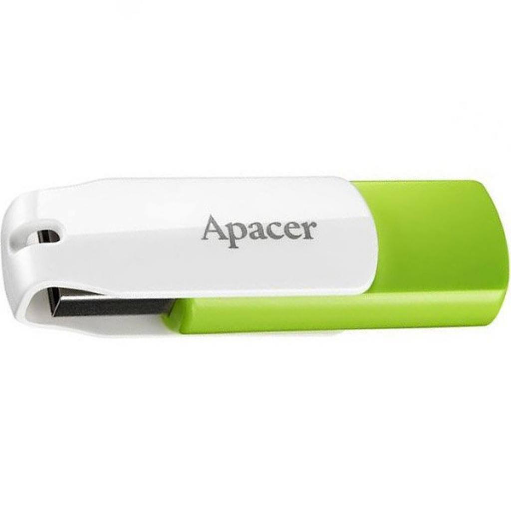 USB флеш накопитель Apacer 16GB AH335 Green/White USB 2.0 (AP16GAH335G-1)