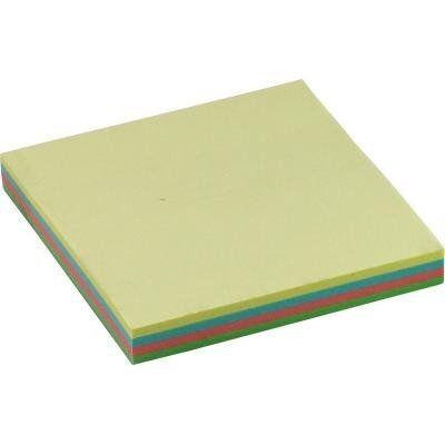 Бумага для заметок BUROMAX with adhesive layer 76х76мм, 100sheets, pastel colors mix (BM.2312-10)