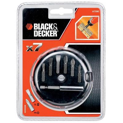 Набор бит Black&Decker 7 предм.+ магнитный держатель (A7090)
