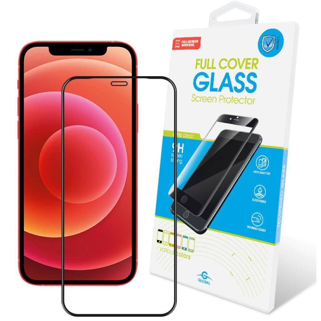 Стекло защитное GLOBAL Full Glue Apple Iphone 12 Pro Max (black) (1283126506390)