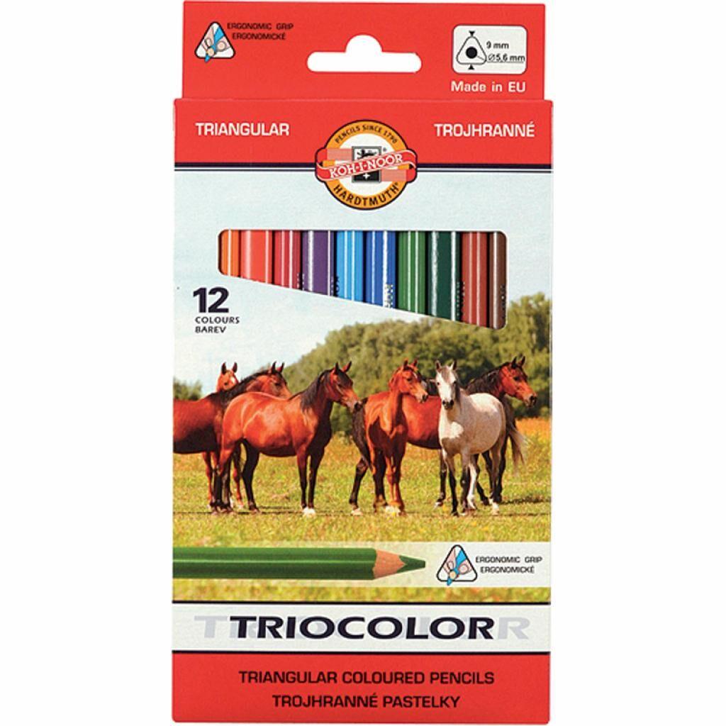 Карандаши цветные Koh-i-Noor Triocolor Jumbo Horses 12 цветов (3142)