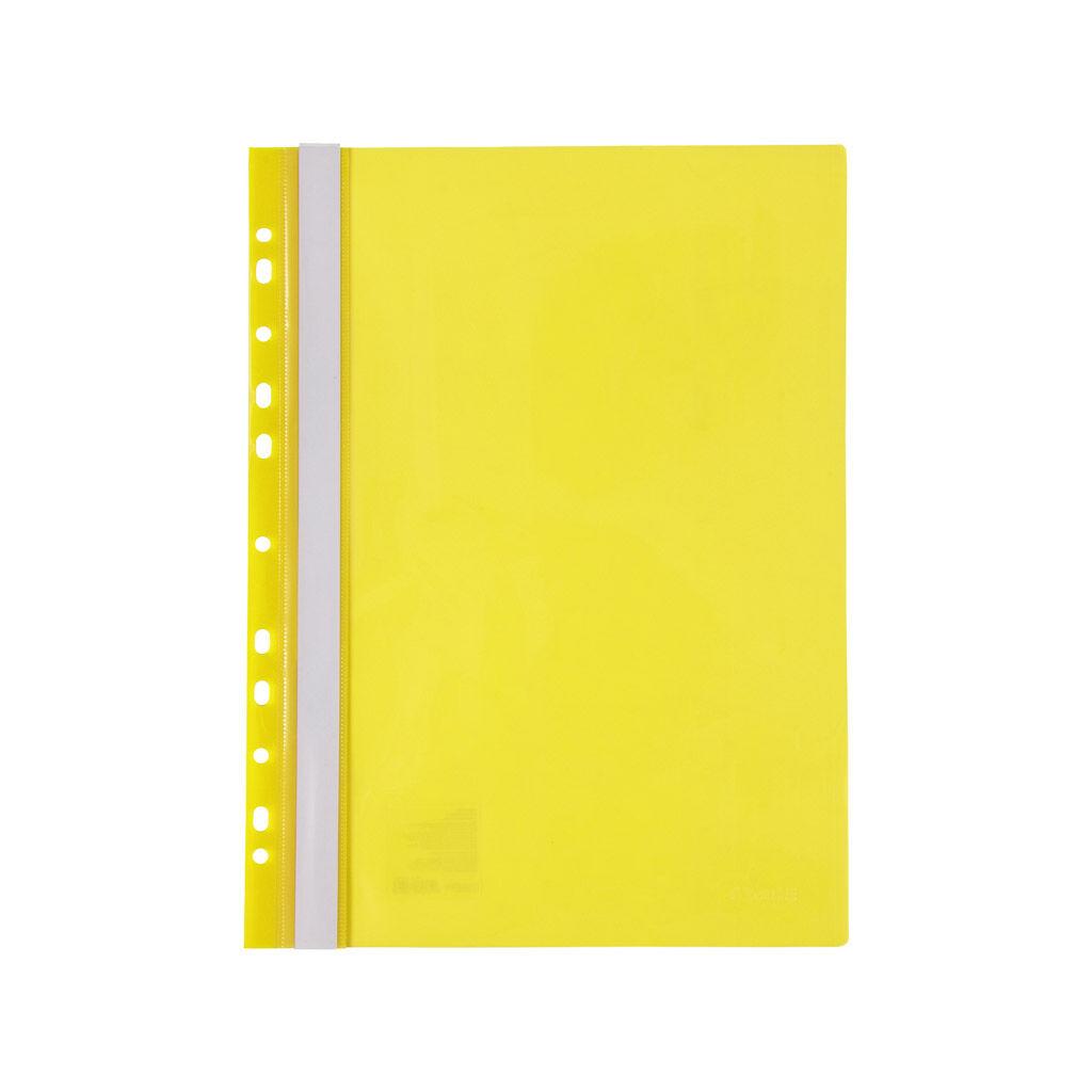 Папка-скоросшиватель Axent А4 с перфорацией 120/150 мкм Желтая (1318-26-A)