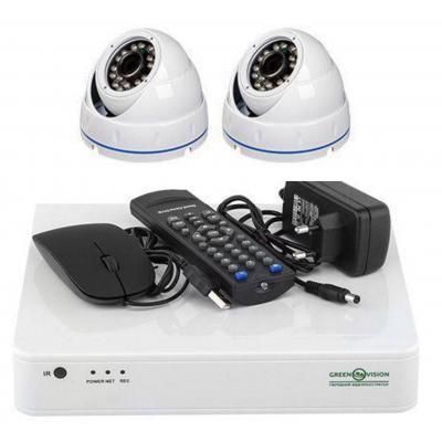 Комплект видеонаблюдения GreenVision GV-K-S15/02 1080P (6658)