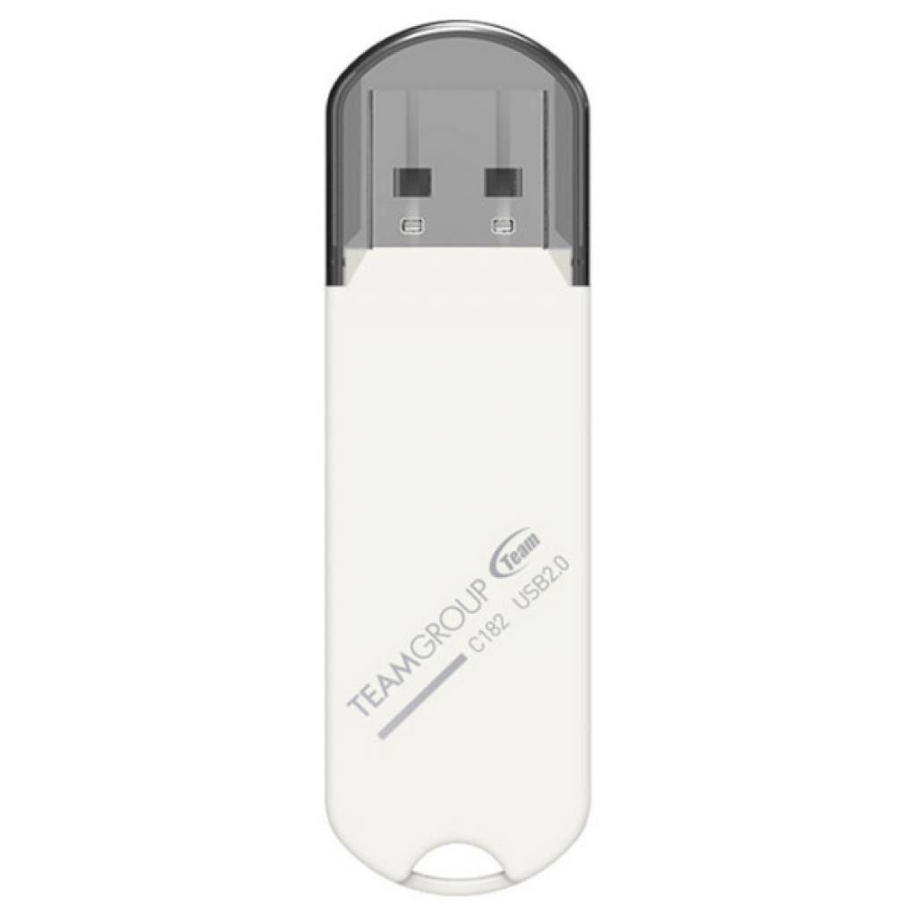 USB флеш накопитель Team 16GB C182 White USB 2.0 (TC18216GW01)