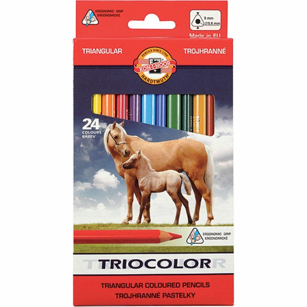Карандаши цветные Koh-i-Noor Triocolor Jumbo Horses 24 цветов (3144)