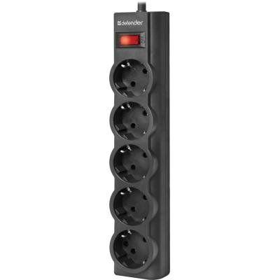 Сетевой фильтр питания Defender ES largo 3m 5 роз. black (99498)