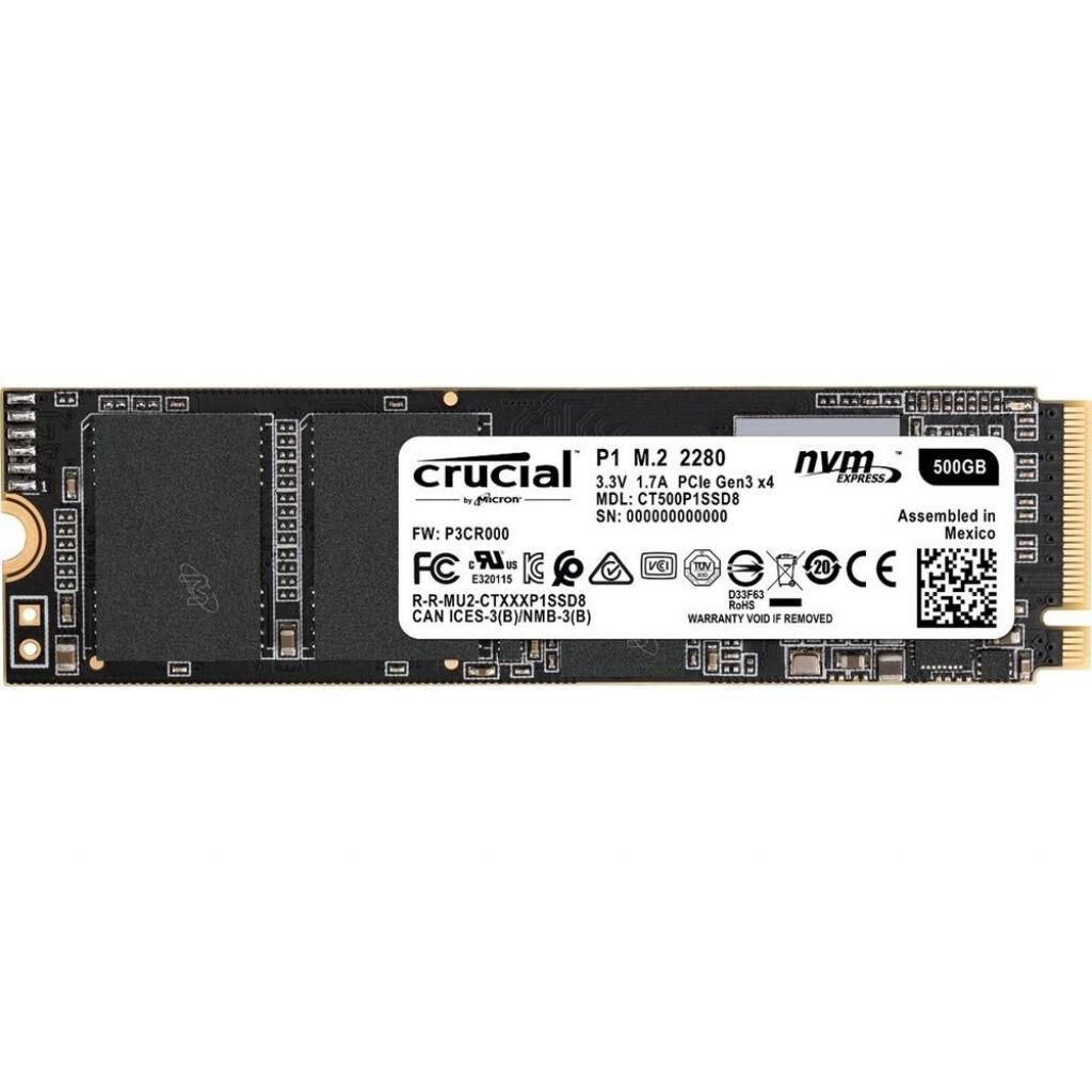Накопитель SSD M.2 2280 500GB MICRON (CT500P1SSD8)