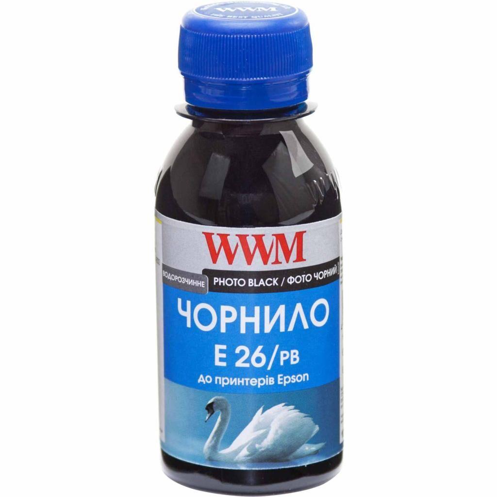 Чернила WWM Epson XP-600/XP-605/XP-700 100г Photo Black (E26/PB-2)