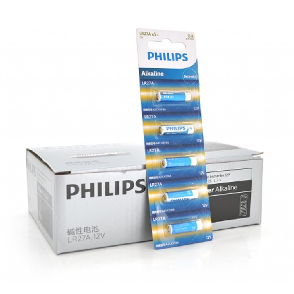 Батарейка PHILIPS A27 Alkaline 27A 5pcs/card (LR27A5B/93)
