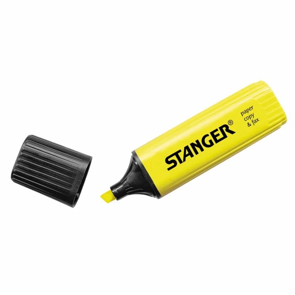 Маркер Stanger текстовый желтый 1-5 мм (180001000)