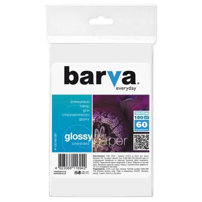 Бумага BARVA 10x15 Everyday 180г Glossy 60с (IP-CE180-287)