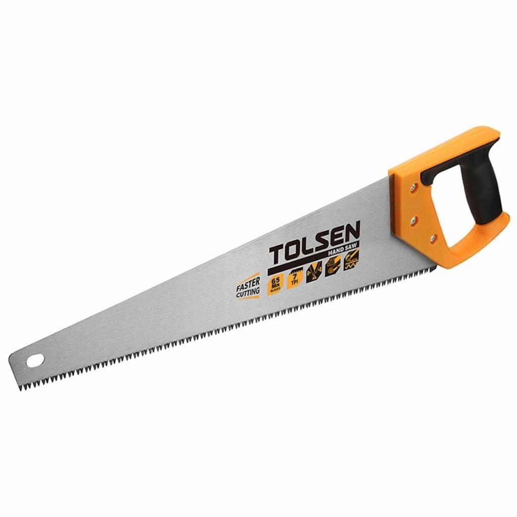 Ножовка Tolsen по дереву 450 мм 7 з/д (31071)