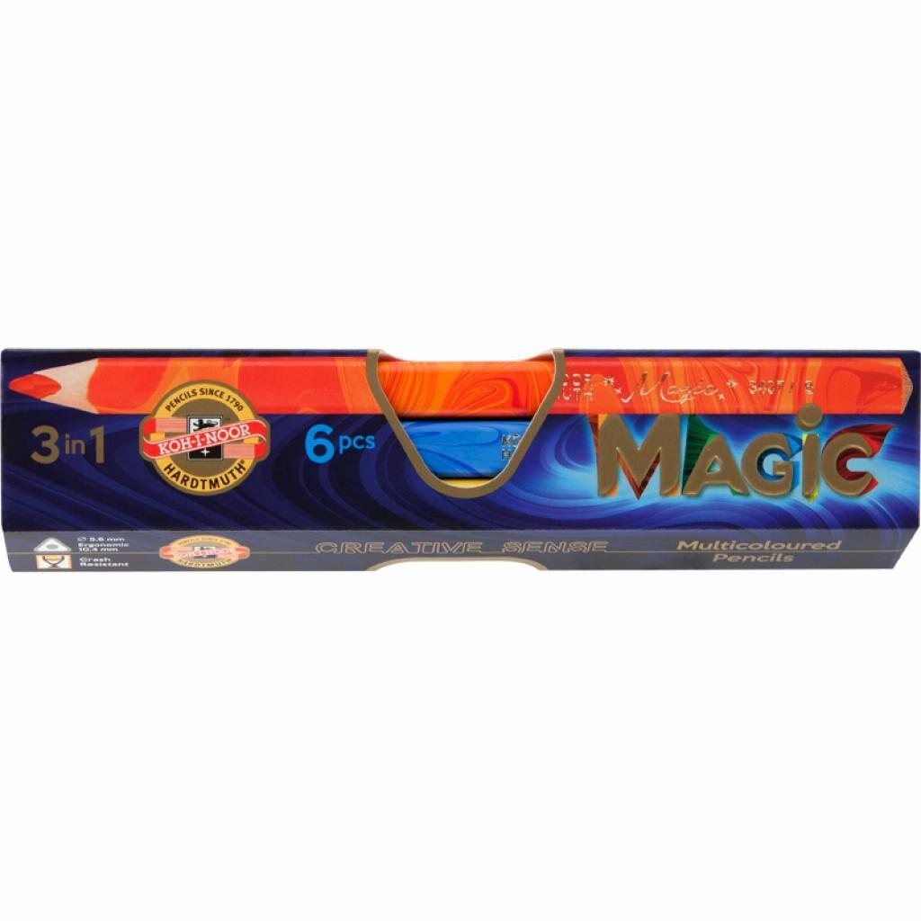 Карандаши цветные Koh-i-Noor Magic 6 штук картонна упаковка (340800)