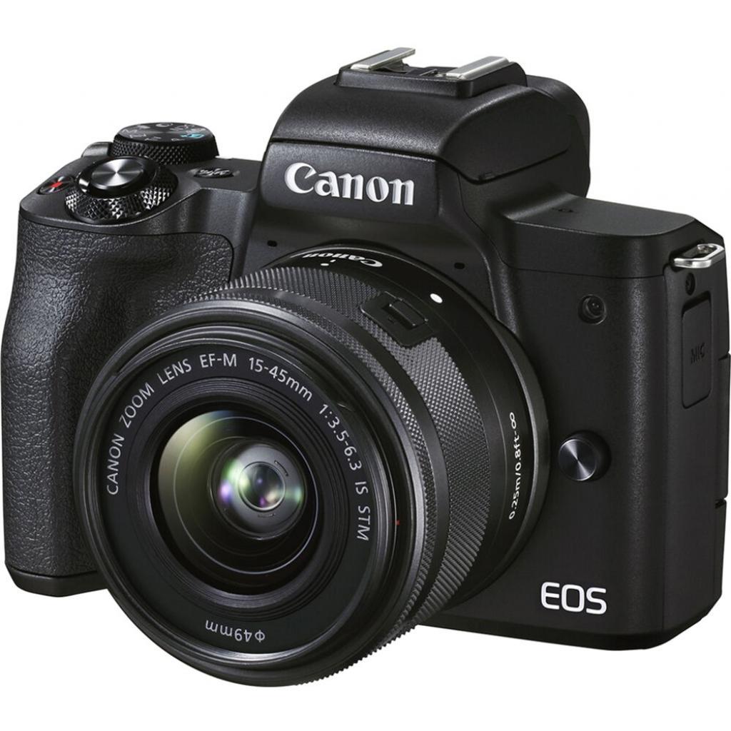 Цифровой фотоаппарат Canon EOS M50 Mk2 + 15-45 IS STM Kit Black + сумка SB130 + SD16GB (4728C058)