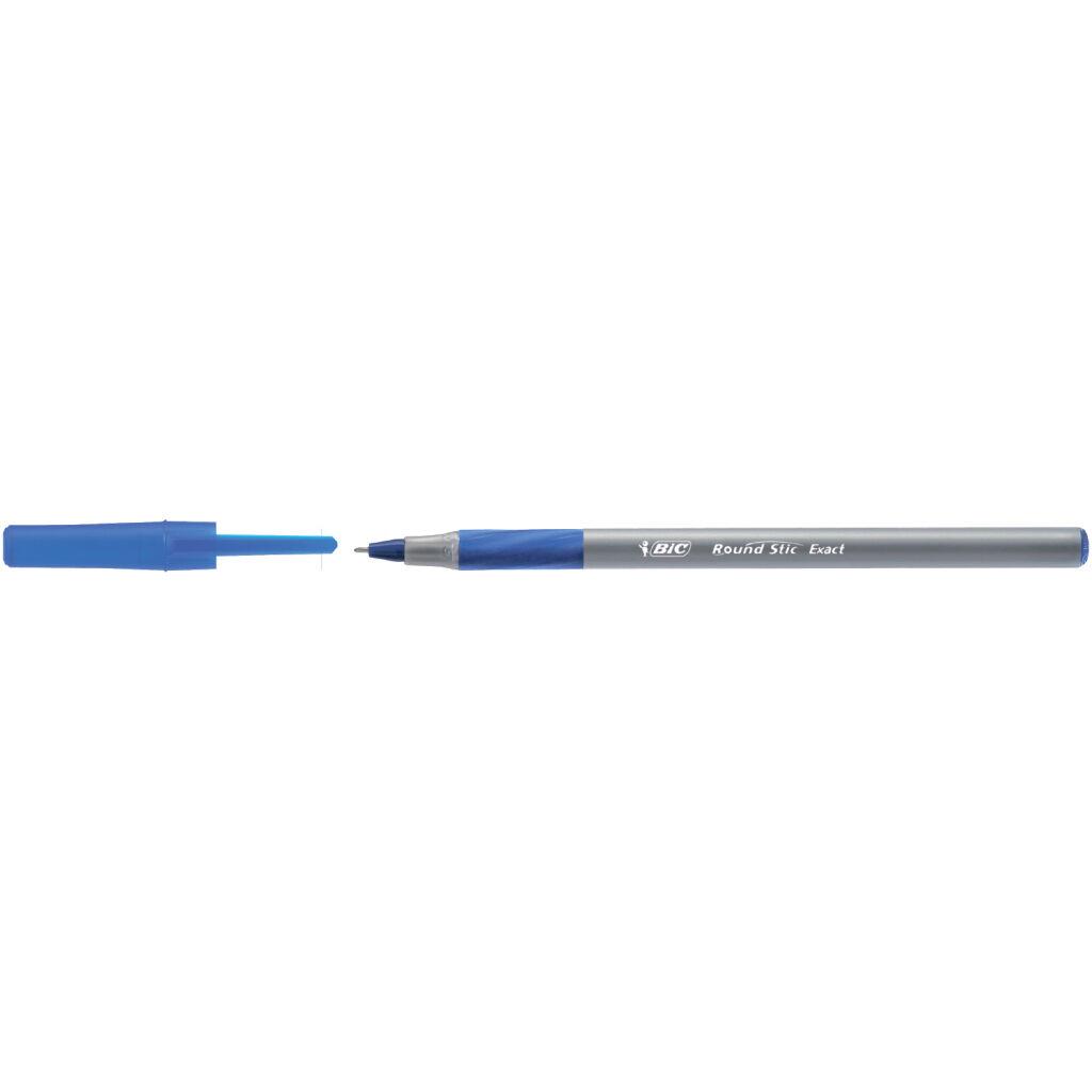 Ручка шариковая Bic Round Stic Exact овальный корпус с резиновым грипом Синяя (bc918543)