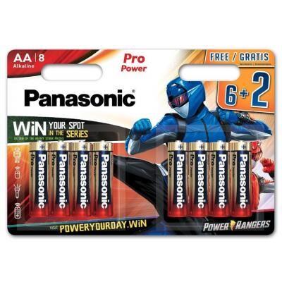 Батарейка PANASONIC AA LR6 Pro Power * 8 Power Rangers (LR6XEG/8B2FPR)