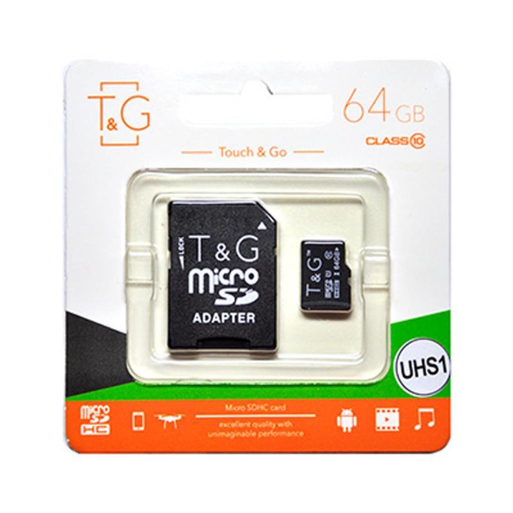 Карта памяти T&G 64GB microSDXC class 10 UHS-I (TG-64GBSDCL10-01)