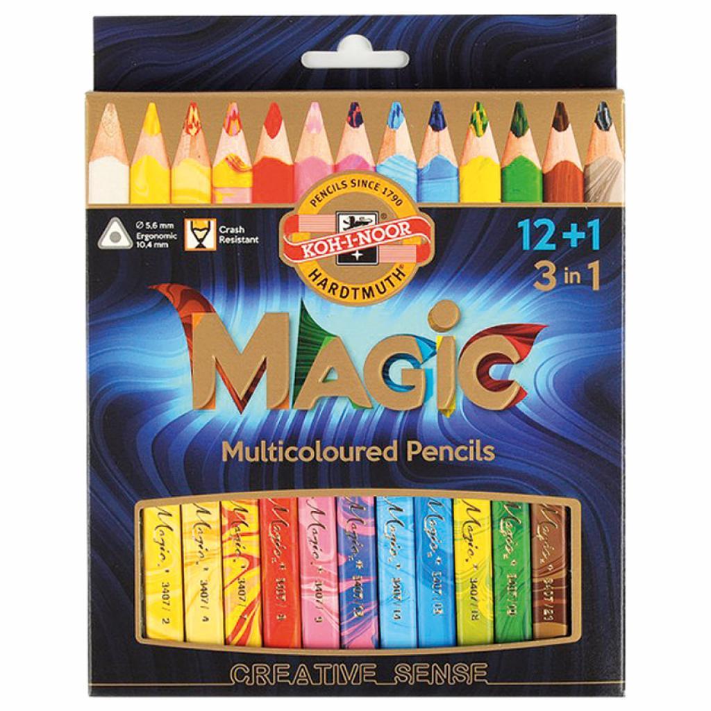 Карандаши цветные Koh-i-Noor Magic 12+1 цвет (340801)