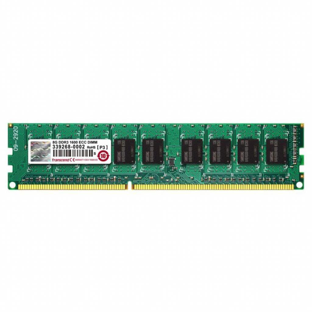 Модуль памяти для сервера DDR3 8GB ECC UDIMM 1600MHz 2Rx8 1.35V CL11 Transcend (TS1GLK72W6H)