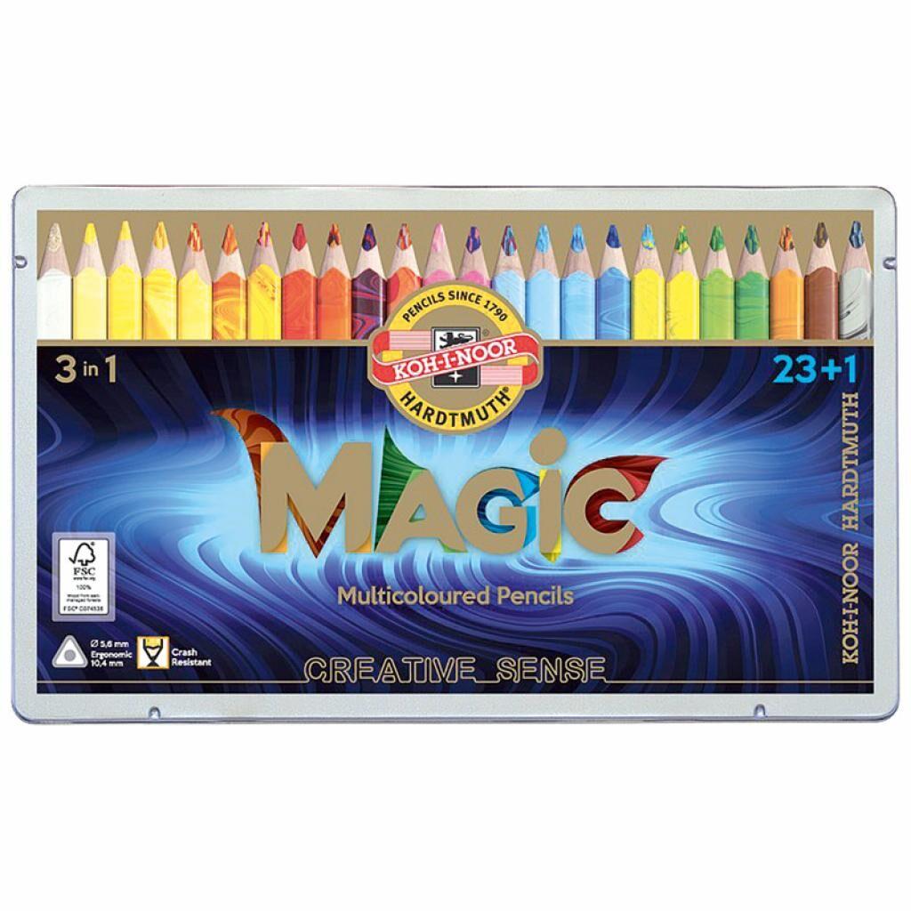 Карандаши цветные Koh-i-Noor Magic 23+1 цвет (340802)