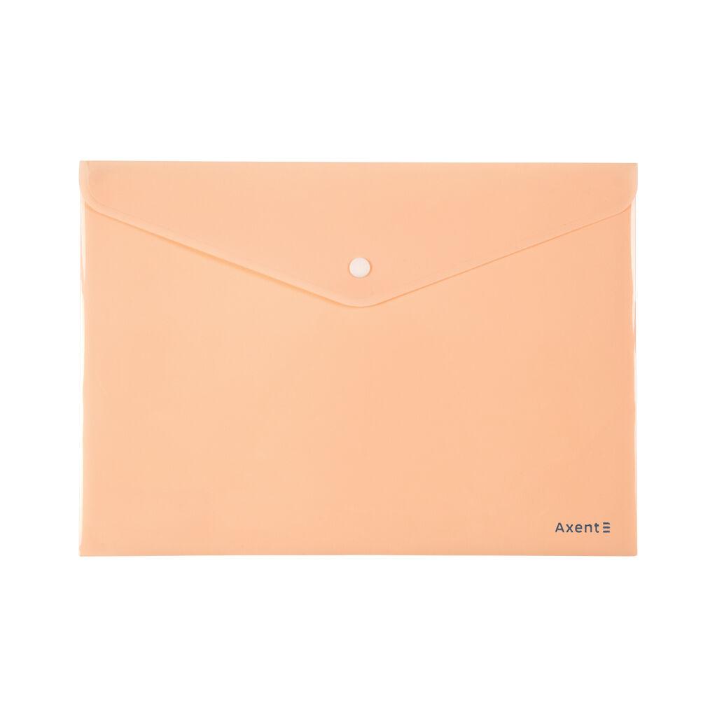 Папка - конверт Axent А4 180мкм Pastelini Персиковая (1412-42-A)
