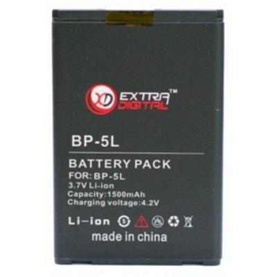 Аккумуляторная батарея для телефона Extradigital Nokia BP-5L (1500 mAh) (DV00DV6039)
