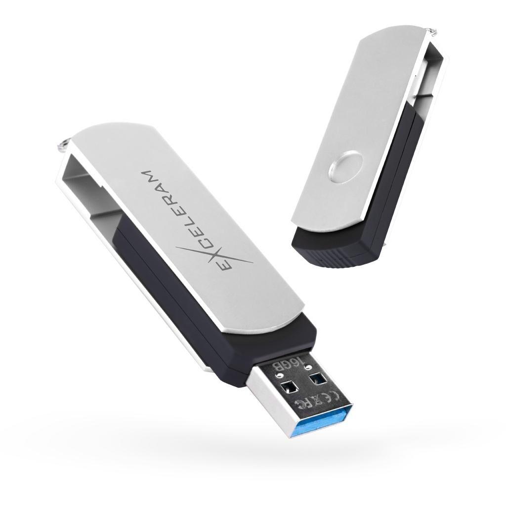 USB флеш накопитель eXceleram 16GB P2 Series White/Black USB 3.1 Gen 1 (EXP2U3WHB16)