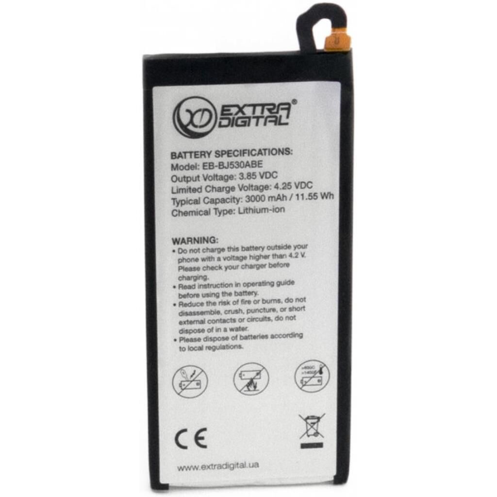 Аккумуляторная батарея для телефона EXTRADIGITAL Samsung Galaxy J5 2017 (EB-BJ530ABE) 3000 mAh (BMS6422)