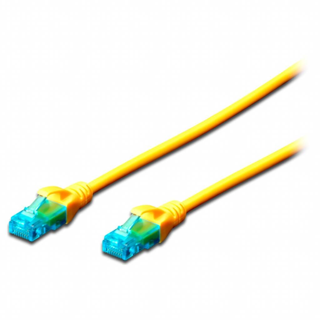 Патч-корд 3м, UTP, cat.5e, AWG 26/7, CCA, PVC, yellow DIGITUS (DK-1512-030/Y)