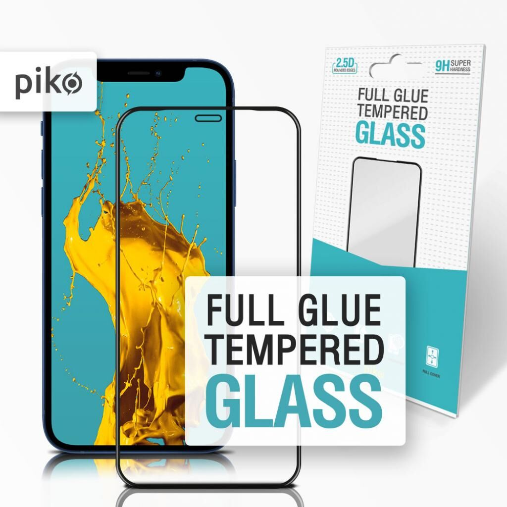 Стекло защитное Piko Full Glue Apple Iphone 12 Pro Max (black) (1283126506468)