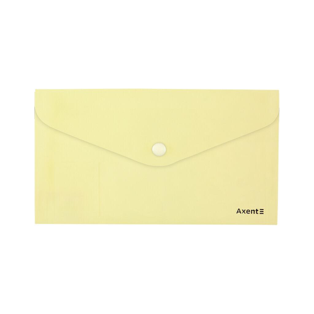 Папка - конверт Axent DL 180мкм Pastelini Желтая (1414-08-A)