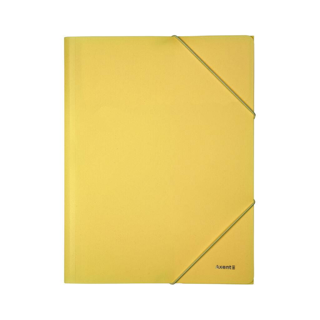 Папка на резинках Axent A4 430 мкм Pastelini yellow (1504-26-A)