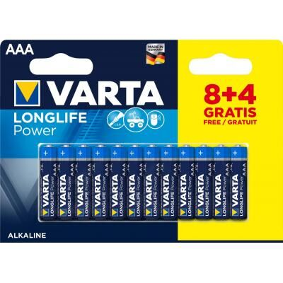 Батарейка Varta AAA Varta LongLife Power * 12 (8+4) (04903121472)