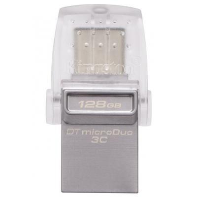 USB флеш накопитель Kingston 128GB DataTraveler microDuo 3C USB 3.0/Type C (DTDUO3C/128GB)