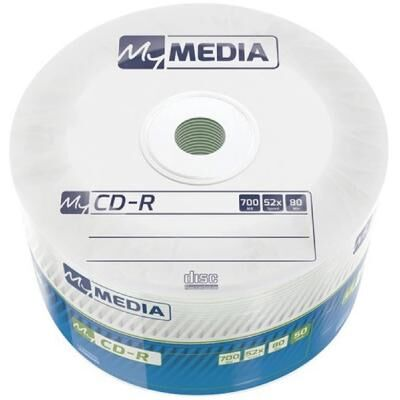 Диск CD MyMedia CD-R 700Mb 52x MATT SILVER Wrap 50 (69201)
