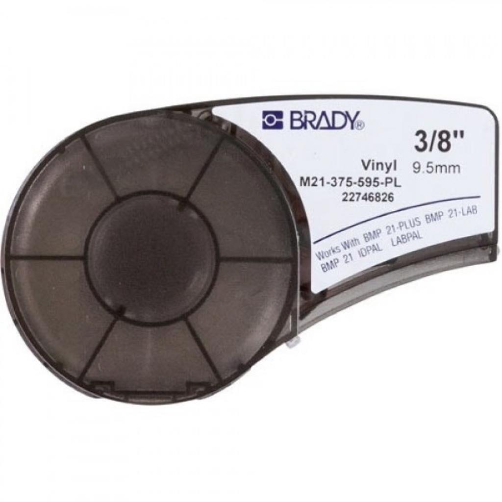 Лента для принтера этикеток Brady винил, 9.53mm/6.4m. Белый на фиолетовом. (M21-375-595-PL)