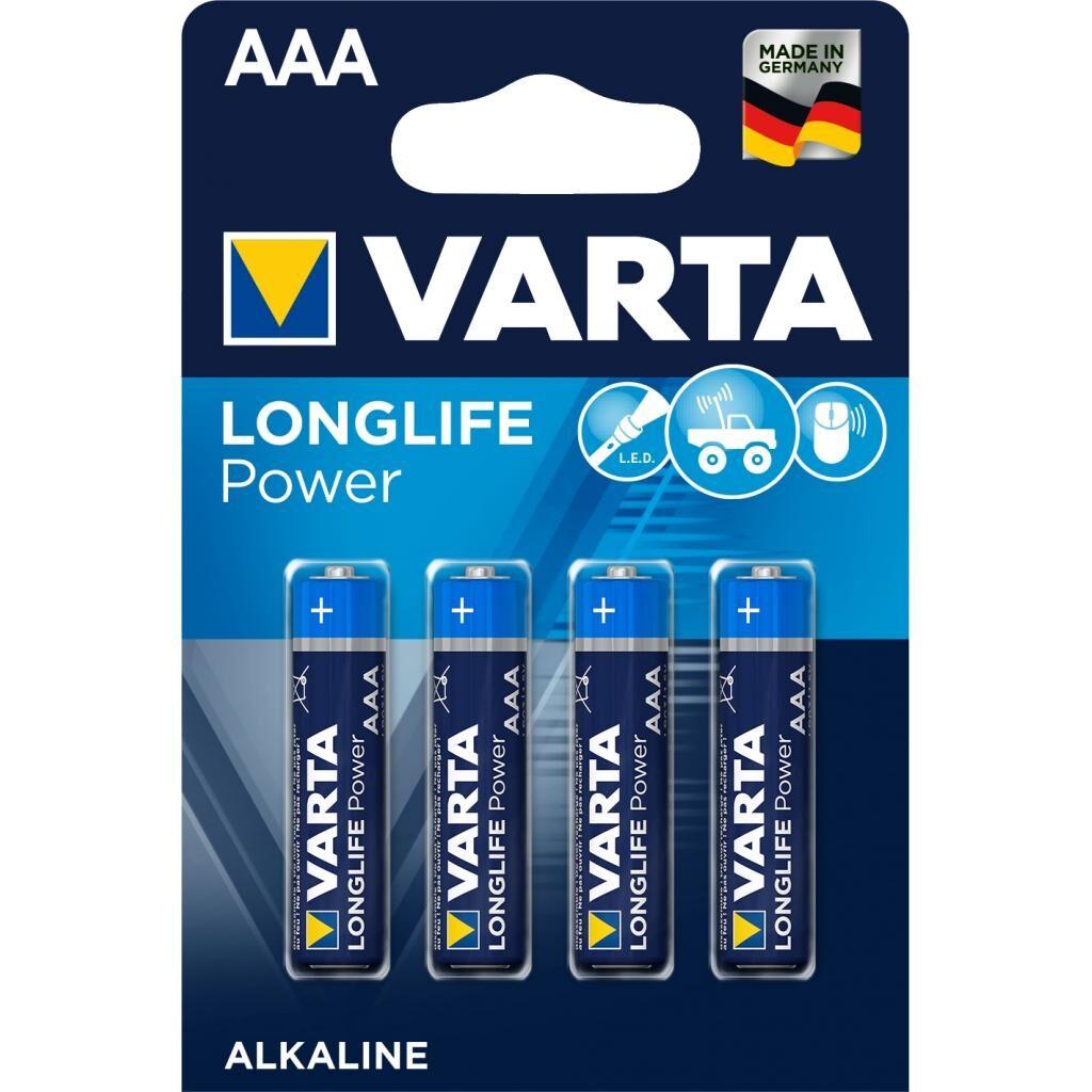 Батарейка Varta AAA Longlife Alkaline * 4 (04903121414)