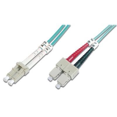 Оптический патчкорд Digitus LC/UPC-SC/UPC,50/125,OM3,duplex,1m (DK-2532-01/3)