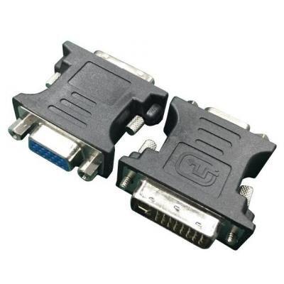 Переходник DVI (24+5 пин)/VGA, M/F HD (3 ряда) Cablexpert (A-DVI-VGA-BK)